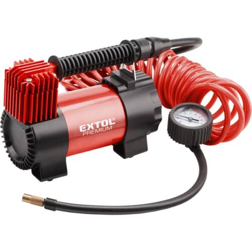 EXTOL olajmentes légkompresszor, 12V, 10,3 Bar, 35 l/perc