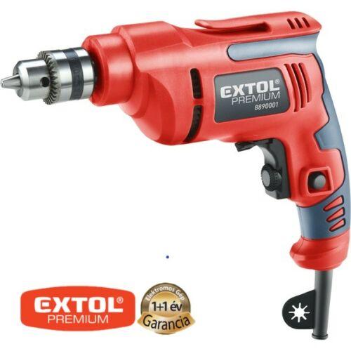 EXTOL fúrógép 450W, 0-2800 ford/perc, kulcsos tokmány, 1,0-10mm, 1,6 kg papírdobozban