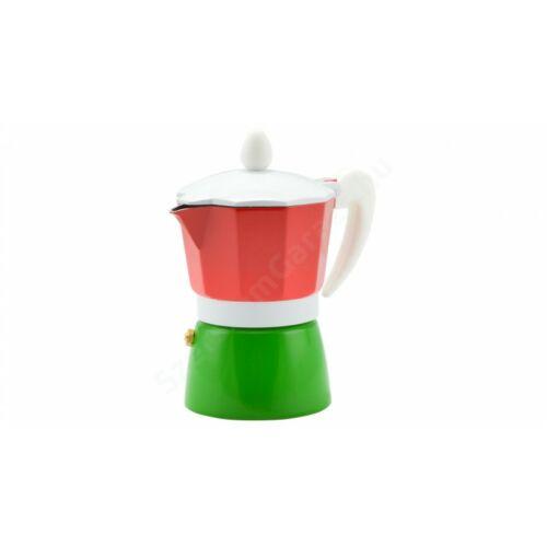 Perfect Home - Kávéfőző alumínium 3 személyes piros-zöld