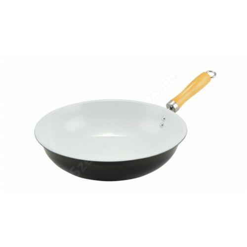 Perfect Home - Kerámia bevonatos wok 32 cm fekete