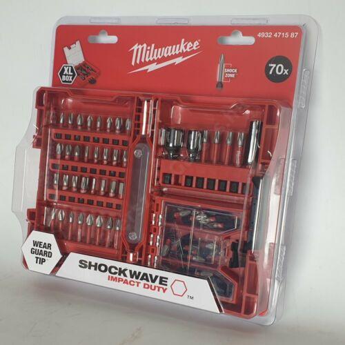 MILWAUKEE 70 darabos Shockwave XL BOX (PZ) bitkészlet (4932471587)